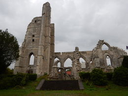 Remains of a church destroyed during World War I. , jatypan - September 2015