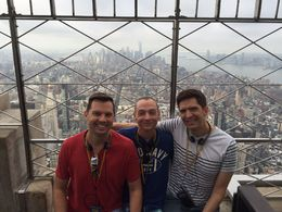 Joe, Edwin and Philip had their picture taken at the Empire State Building Observation Deck. , Joe S - September 2015