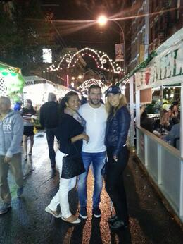 In front of Grotta Azzura, just in time for the Italian Festival (after a great meal) , marijana.dj - November 2014