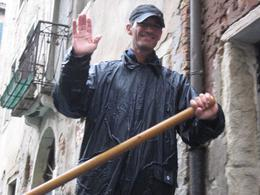 Our gondolier. He was happy to take us for a ride even in the rain!, Diane G - October 2010