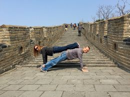 Kent and Selena planking on the Great Wall of China , sstegem - April 2015