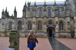 Kati Right Before Entering Rosalyn Chapel , Kathleen S - July 2014
