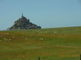 This is taken from the bus when leaving the St Mont Michel late in the afternoon. - July 2010