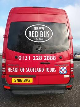 Catching the Heart of Scotland Tours Wee Red bus @ Waterloo , raci88 - November 2016