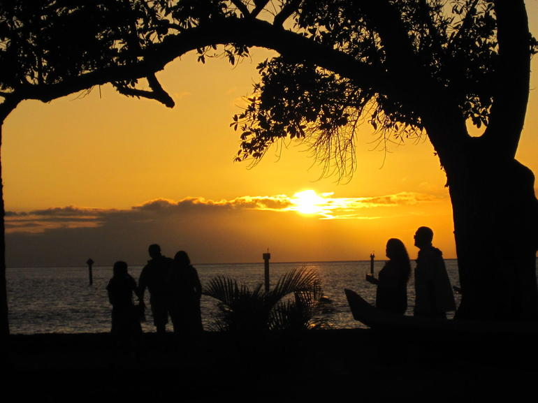 Sunset at the Old Lahaina Luau - Maui