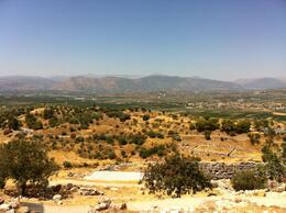 View from the top of the Mycene ruins. , Dana F - July 2013