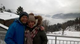My Wife Rosaleen and myself Des Welsh at Cortina Vantage point. , rosaleen W - February 2017