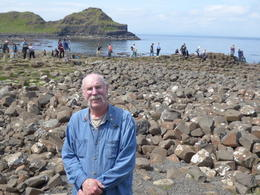 Curt at Giant's Causeway. Wear your hiking boots. , Rosemary J - July 2017