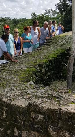 Our group getting a closer look at the ruins , joanne f - October 2017