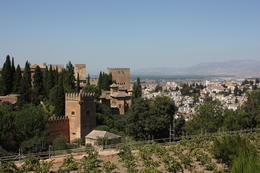 Alhambra view from the Generalife Gardens, SCV - December 2012