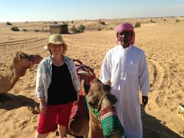 included in this tour camel ride. this is the camel handler and myself , Susan E R - December 2013