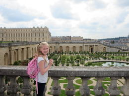 Caylea enjoying the tour of the Gardens of Versailles. , durindacheek - June 2014