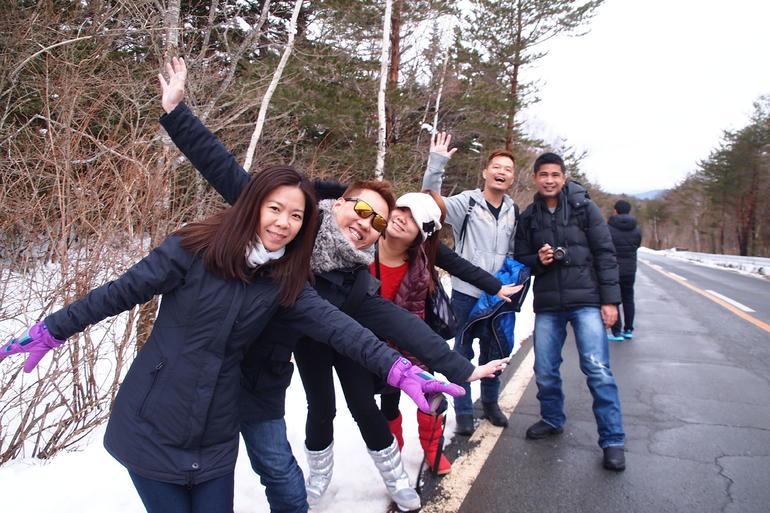 Group Photo at 1st Station - Tokyo