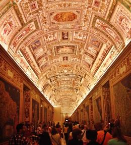 Hall of Maps, stunning room. This is at night, note all of the other people still there. , Laura L - June 2014