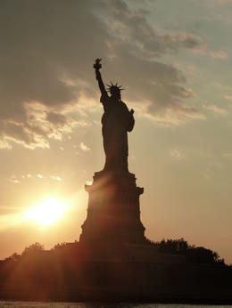 The Statur of Liberty at Sunset. , Bumbleb43 - August 2011