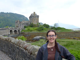 Me in front of Eileen Donan Castle , Amy - July 2013