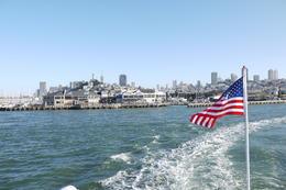 Leaving Fisherman Whalf... Looking back at San Francisco, Pier 39. , David Yuen - May 2013