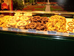 Another Christmas Market has several taste tempting stands. Pretzels in a myriad of tastes tempt you to skip dinner. , JOHN D - February 2011