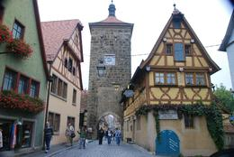 The town of Rothenburg is surrounded by a wall, once a fortress. Very beautiful., Valarie B - October 2007