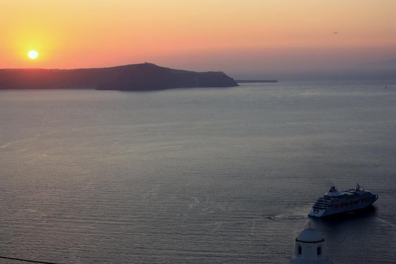 Sunset over Santorini -