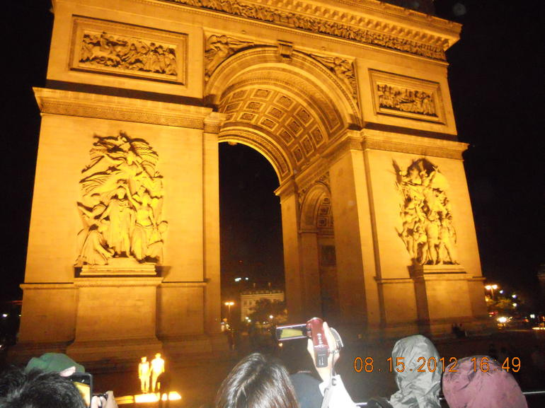 The arch by night - Paris