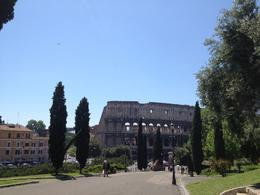 Cycling towards the Colosseum., Nick - May 2012