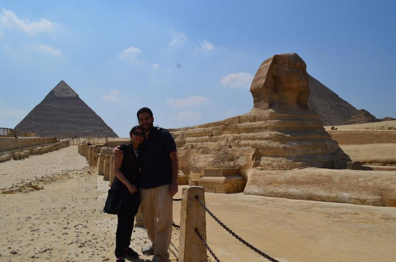 with the sphinx and the pyramids - Cairo