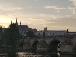 Prague castle at sunset , jacki s - July 2017