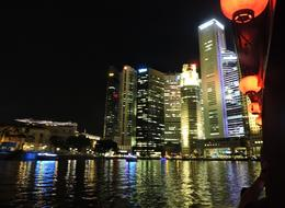 View of the city from the bumboat cruising the river. , Dean R K - August 2014