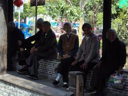 Some local elderly folks just hanging out - June 2012