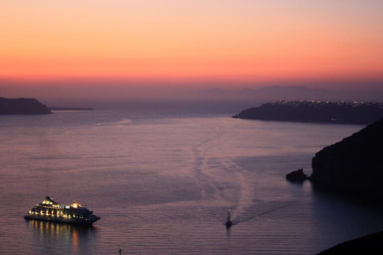 Dusk in Santorini -