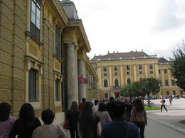 Walking into beautiful Schonbrunn Palace., Valentine K - December 2010