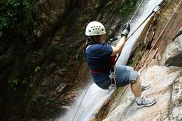 First rappel experience was a little nerve-wracking, but exciting and fun., Kevin G - July 2010