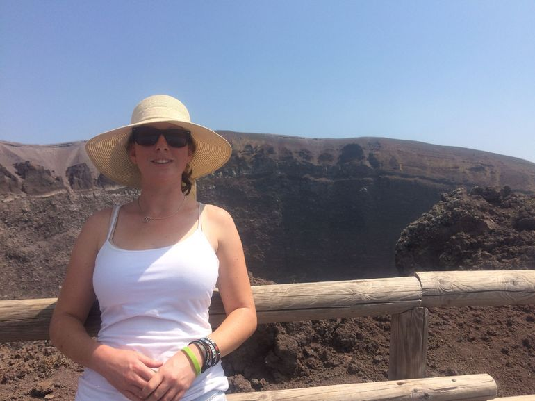 My friend at the Crater of Mt. Vesuvius!