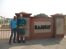 Me and Albi, our tour guide, at Rajgat, the burial site and memorial for Ghandi. , Barry V - October 2014