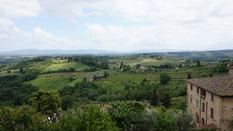 View of Tuscany from an overlook in San Gimignano , Bradley D - May 2015