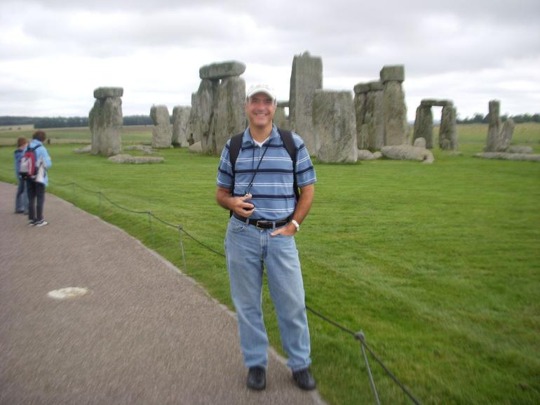 Tony at Stonehenge. - London
