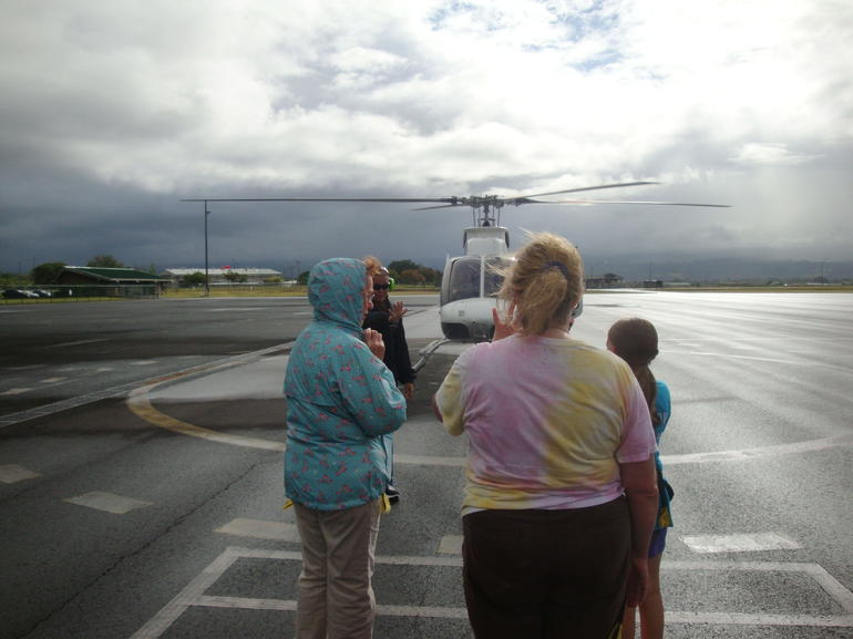 A wet send-off! - Big Island of Hawaii