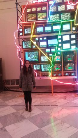 In front of a neon America - December 2014