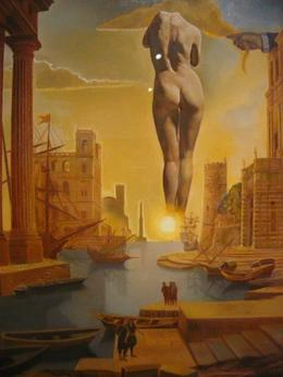 This painting was inspired by Dali's wife - August 2010