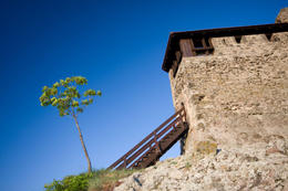 Watchtower in a fortress in Visegrad, on the Danube Bend - May 2011