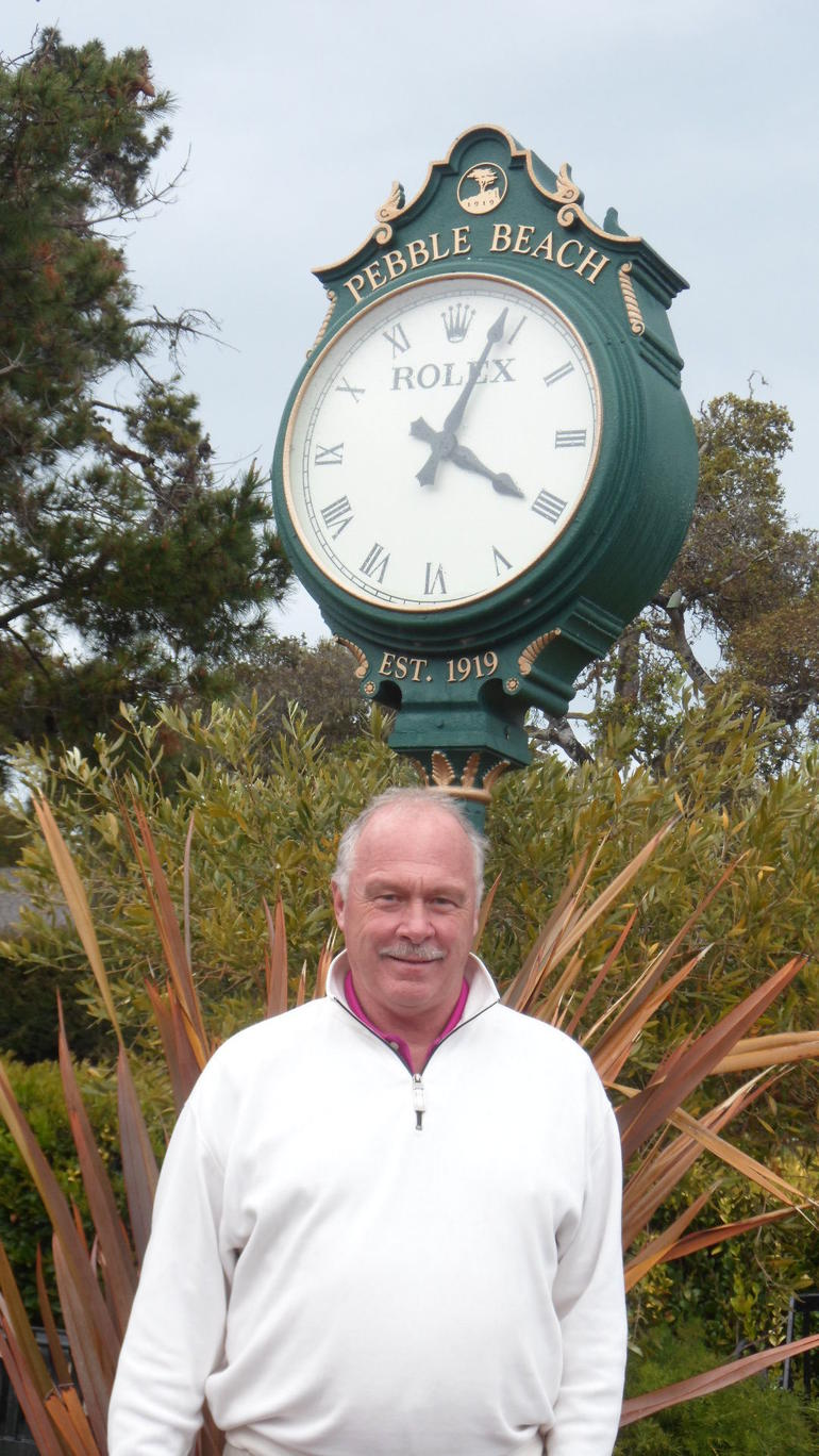 ICONIC CLOCK AT PEBBLE BEACH - San Francisco