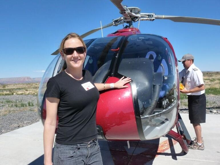 Jacque by the heli - Las Vegas