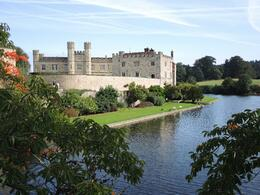 More beautiful grounds and the moat around Leeds Castle , Barbara W - October 2013