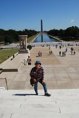 My wife Marissa posing at the George Washington Monument , Mark B - September 2013
