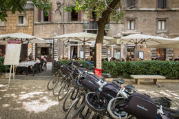 Our bikes all lined up while we ate a wonderful Italian meal. We got to meet people from Australia and Canada! , lorieb - October 2014