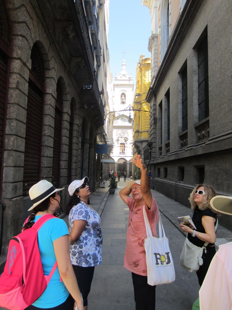 pointing out the sights - Rio de Janeiro