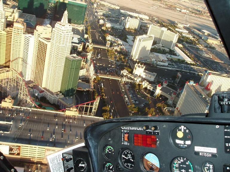 Returning over the Las Vegas Strip - Las Vegas