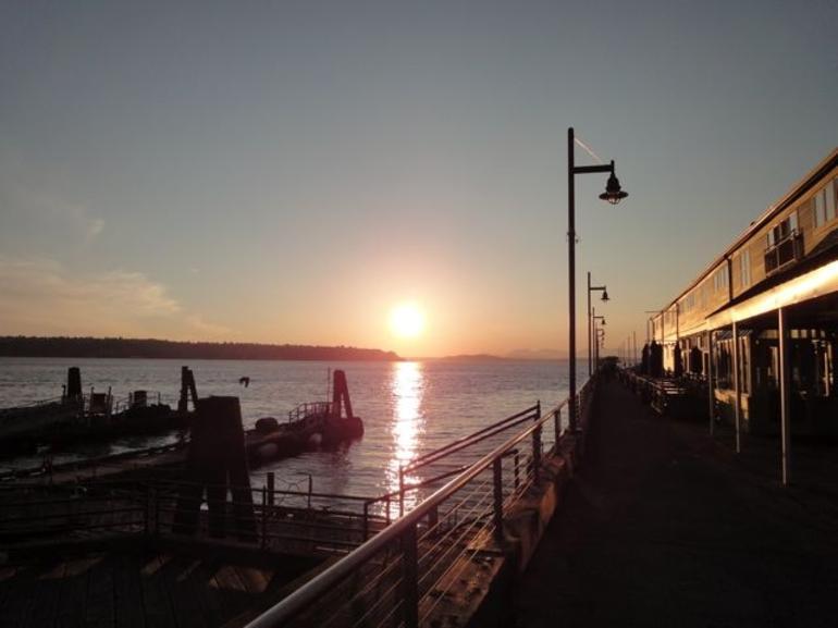 Sunset off Pier 56 - Seattle