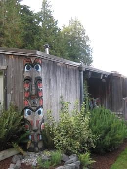 Outside the LongHouse at Tillicum Village, Undercover Américan - October 2010